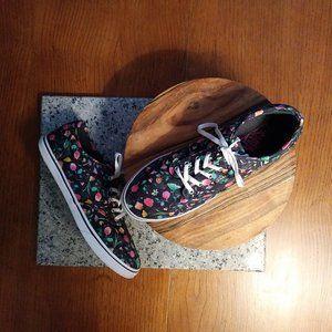 Vans Black Ditsy Floral Fabric Sneakers 9